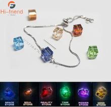 2019 new bracelet Marvel Heroes Avengers Crystal Infinity Bracelet 925 Silver Six Fine Jewelry accessories gift