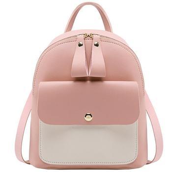 2020 Hot Women's Mini Backpack Luxury PU Leather Kawaii Backpack Cute Graceful Bagpack Small School Bags for Girls Bow-knot