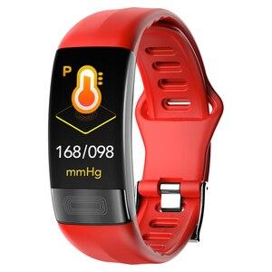 Image 1 - P11 ECG + PPG سوار ذكي جهاز تتبع معدل ضربات القلب لأغراض اللياقة البدنية ساعات ضغط الدم بلوتوث مقاوم للماء أجهزة يمكن ارتداؤها