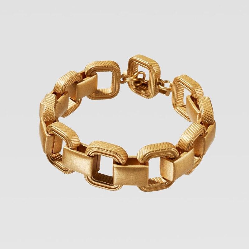 Dvacaman ZA, золотое ожерелье на цепочке, Чокеры для женщин, металлическое круглое звено, массивное ожерелье, s макси панк, модные вечерние ювелирные изделия - Окраска металла: 11
