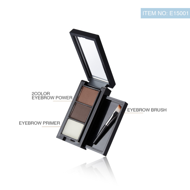 Pro 2 Color Eyebrow Enhancer Makeup Eyebrows powder Long-lasting Waterproof With Brush Mirror Cosmetic Kits 1