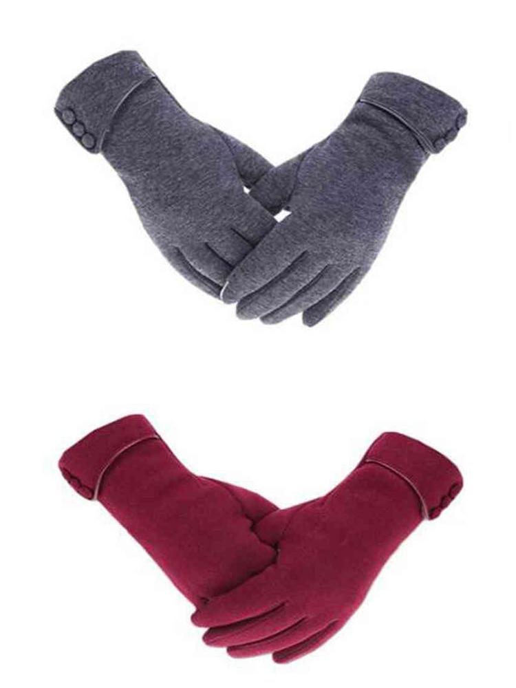 Warm Gloves Mittens Driving Handschoenen Touch-Screen Ski Women Windproof Wrist Autumn