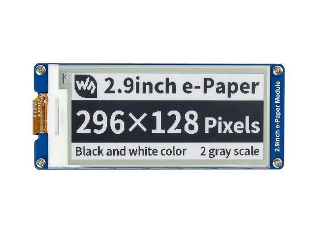 Display da 2.9 Pollici E Ink Dello Schermo di 296X128 E Carta Modulo Spi Supporto Parziale di Aggiornamento Ultra Basso il Consumo di Energia Ampio Angolo di Visione