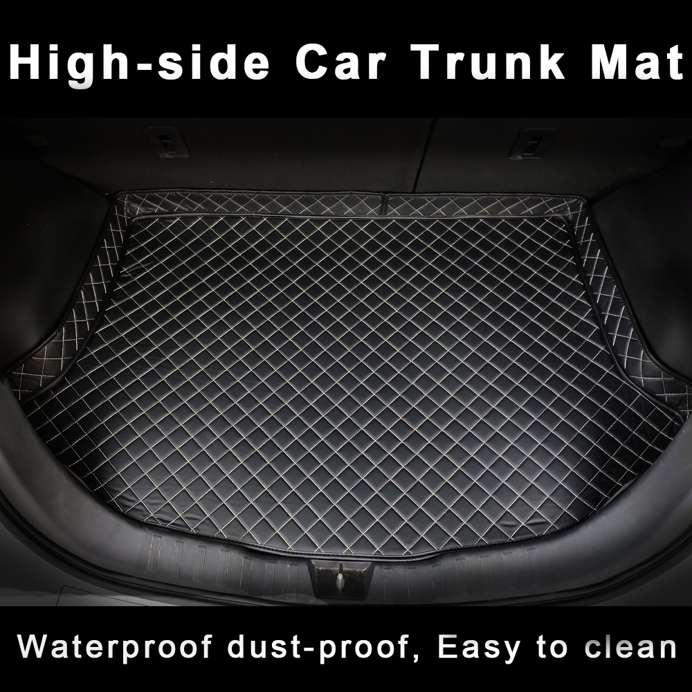 Custom Car Trunk Mat for nissan primera p12 cx-5 haval h6 <font><b>mazda</b></font> <font><b>6</b></font> <font><b>2010</b></font> honda fit 2014 rx 570 Car Accessories Cargo Liner Mat image