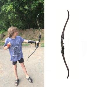 Image 2 - Arco recurvo de 54 pulgadas, longitud elevada de 30 50 libras, arco de caza americano de 17 pulgadas para tiro con arco, práctica de caza deportiva al aire libre