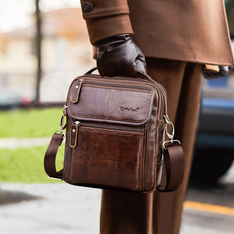 Cobbler Legend Brand Men's Genuine Leather Business Bag 2019 Men Shoulder Bags High Quality Male Handbags For Men Satchels Beg