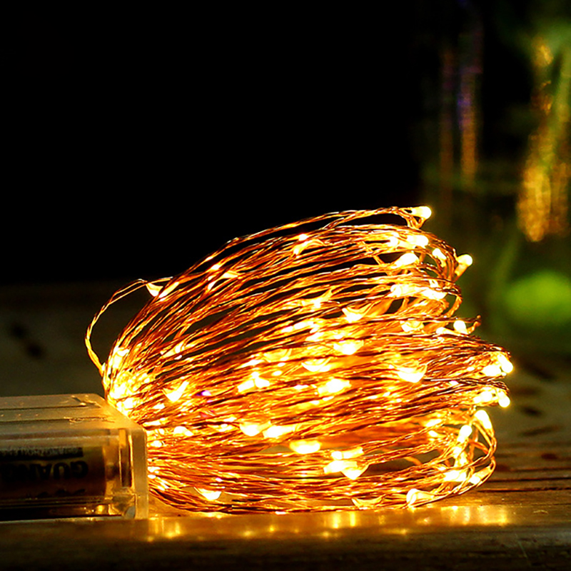 LED Fairy String Light Wedding Decor Warm White Garland Birthday Wedding Party Decor Event Party Supplies Baby Shower Christmas