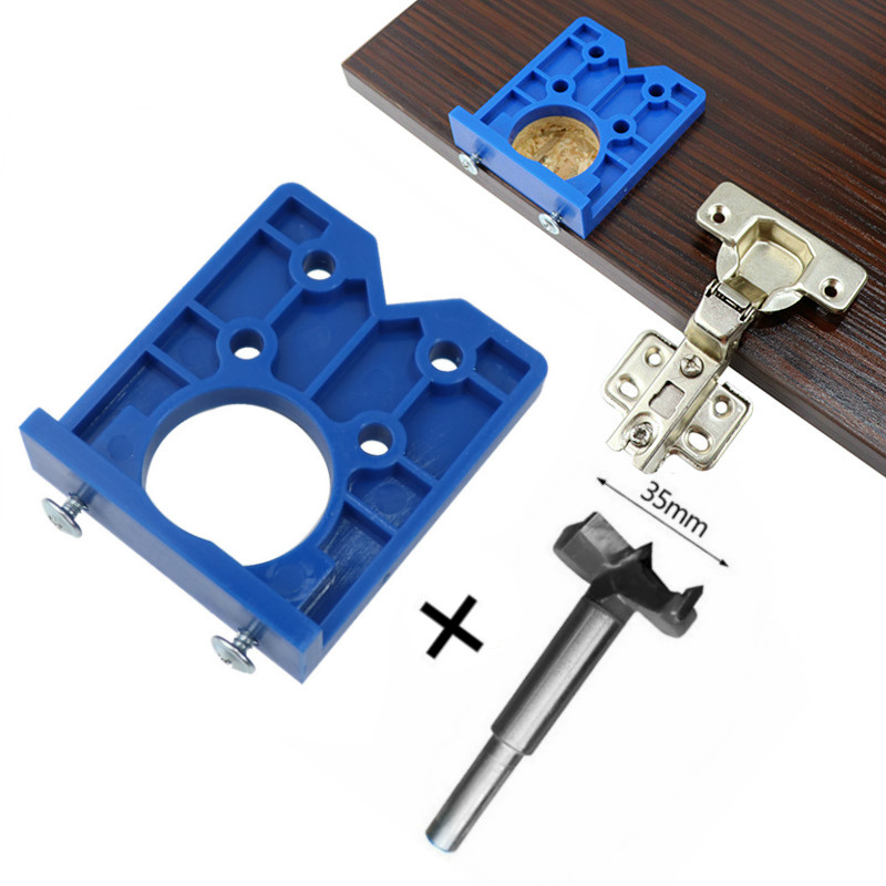 35mm Door Cabinets Hole Locator Template Accurate Woodworking Hinge Drilling Guide W/ Hinge Drill DIY Tool