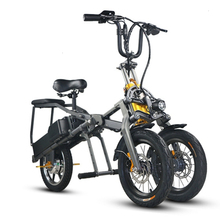 Good quality portable 350W 48V 8AH folding electric tricycle/electric scooter