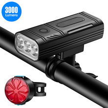 Bike Flashlight Rear-Light-Kits Powerful Rechargeable Waterproof Front And USB