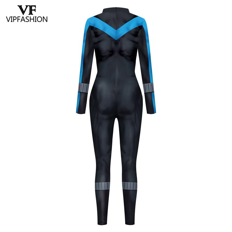 Image 2 - VIP FASHION New DC Comic Batman Nightwing Cosplay Costume  Superhero Anime Zentai Suit Bodysuit Halloween Costume For MalesMovie & TV costumes   -