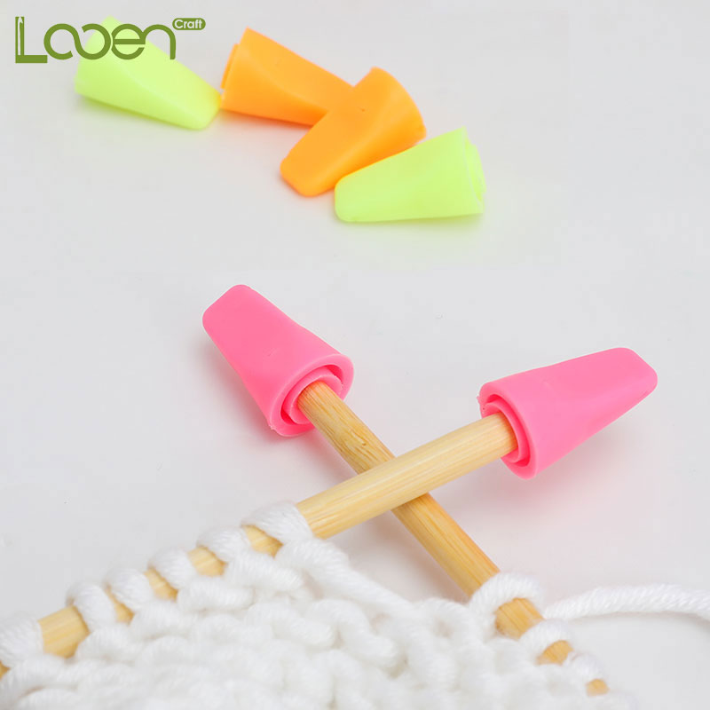 6 Pcs/lot Knitting Needles Tip Stopper For Knitting And Sewing Protectors Weave Needle Arts Craft Sewing Tools Accessories