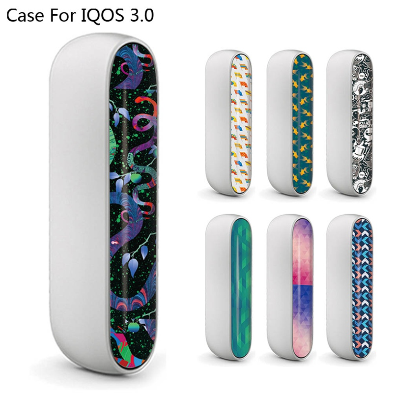 Colorful PVC Material Printing Label <font><b>Sticker</b></font> For <font><b>IQOS</b></font> 3.0 Side Cover For <font><b>IQOS</b></font> 3 E Cigarette Door Cover Decals image