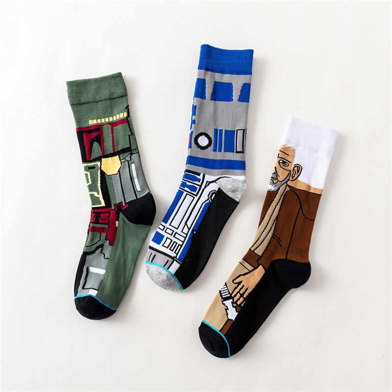 Star Wars Film Strümpfe Master Yoda R2-D2 Cosplay Socken Wookiee Jedi Ritter Neuheit männer frauen Socken Frühling Herbst winter