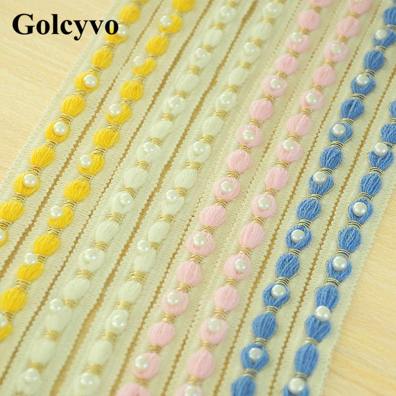 1Meter Beaded Lace Trims Woolen Yarn Knitting Ribbon Home Living Curtain Shoulder Girdle Dress DIY 1.8CM Width