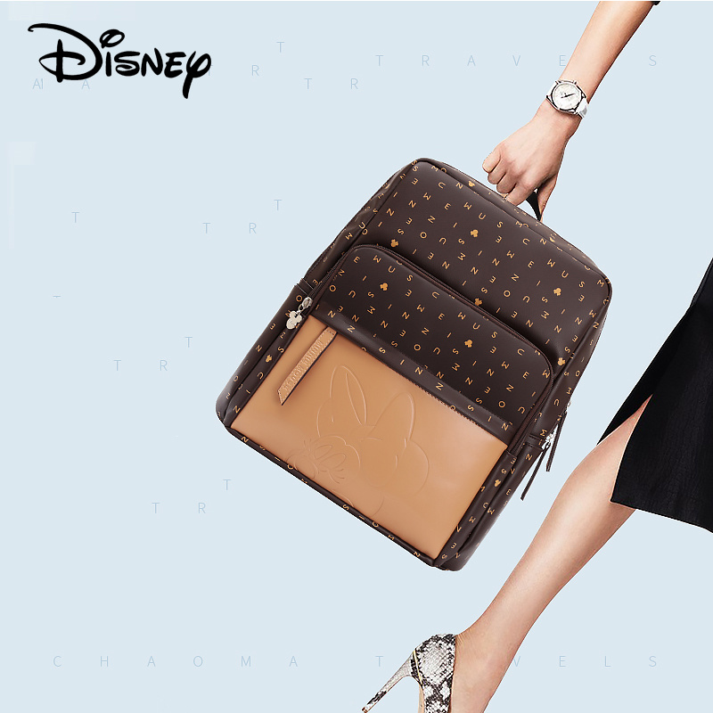 2020 Disney Leather Diaper Bag USB Baby Care Backpack Mummy Pregnant Women Wet Bag Waterproof Baby Pregnant Bag Mickey Baby Bag