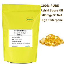 100% Pure Reishi Spore Oil Softgel 500mg Net Content High Triterpene Supercritical Extracted Ganoderma Lucidum Spore oil Capsule 500mg capsule high quality ganoderma lucidum extract reishi mushroom capsule with competitive price