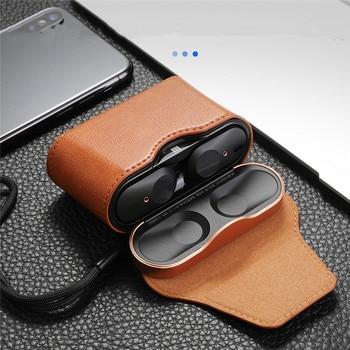 Funda protectora de cuero para Sony WF-1000XM3, auriculares inalámbricos, funda completa protectora para Funda magnética