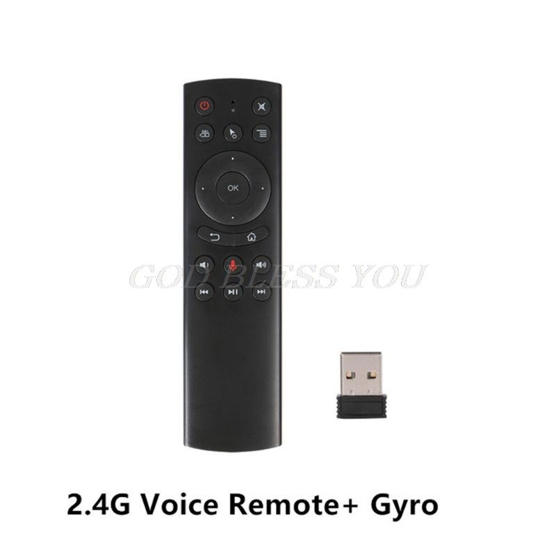 G20S Gyro Smart Voice Remote Control IR Learning 2.4G Wireless Fly Air Mouse Drop Shipping image