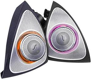 Image 4 - Car Interior 3 Colors Led Ambient Light 3D Rotary Tweeter Speaker for C Class W205 C180,C200 C250 C300,C350(W205)