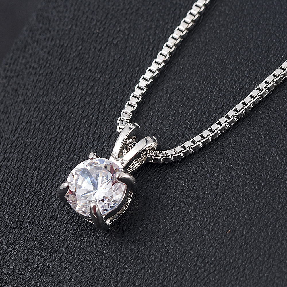H75ebeaea45e9420c947ab56f0fdccc869 - Crystal Zirconia Pendants Chain Necklaces Jewelry Collar Colar Wedding Jewerly