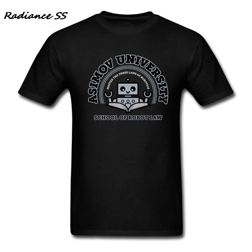 Man Blank t shirts Unique School of Robot Law tshirt Classic Short Sleeve Man tshirt Tee shirts image