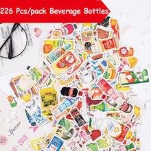 226 шт/упак бутылки для напитков милое украшение Бумага Сделай