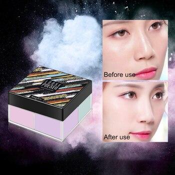 4 colores corrector de larga duración hidratante Control de aceite impermeable brillo cara miel polvo belleza Facial polvo cosmético