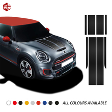 Car Hood Tail Sticker Bonnet Stripes Engine Cover Trunk Decal For MINI JCW F56 John Cooper Works Accessories Car Styling car hood tail sticker bonnet stripes engine cover trunk decal for mini jcw f56 john cooper works accessories car styling