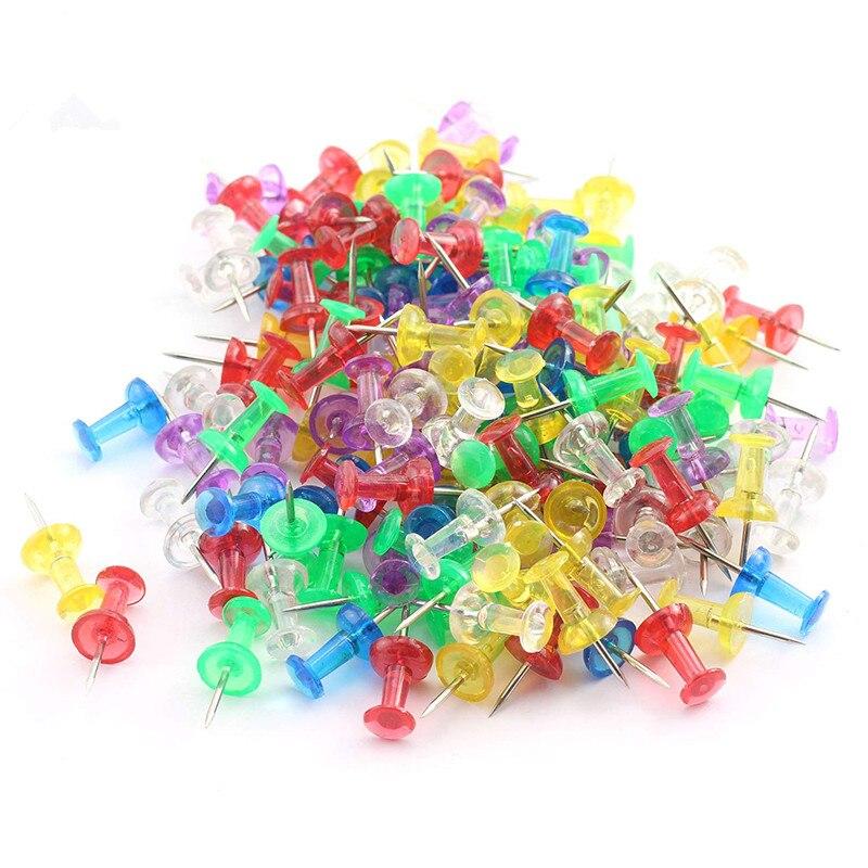 MIUSIE 50 Pcs Color Thumbtacks Push Pins Map Pin Cork Board Thumb Tacks Pushpin Stationery Buttons Pins Office School Supplies