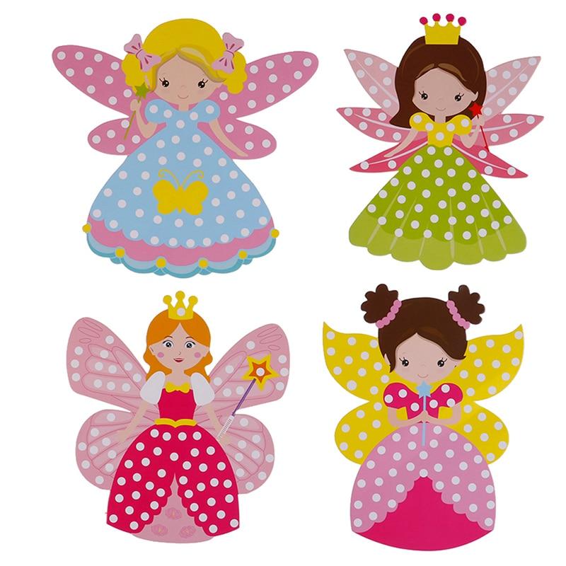 Children DIY Fairy Stick Handmade Princess Magic Stick Toy Handmade Materials Package Sticker Girl Gift DIY Craft Toys