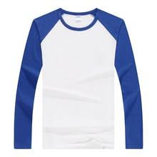 Spring Autumn Top Tee Women Vogue T Shirt Long Sleeve Lycra Cotton Raglan Tshirt Trend Couple Slim Shirt Casual Bottoming Shirts