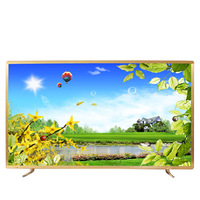 Gold color frame 43 50 55 60 65 inch TV android smart wifi internet LED LCD 4K television TV