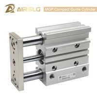 Cilindro de guía compacta MGP cilindro neumático de aire delgado de tres ejes con Varilla de guía MGPM32 40 mm carrera de perforación 25-400mm MGPL32 40