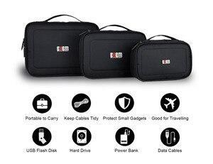 Image 2 - 3 pièces multi fonction accessoires organisateur étui de transport Usb câble carte cordon dalimentation batterie stockage voyage électronique Gadget sac à main