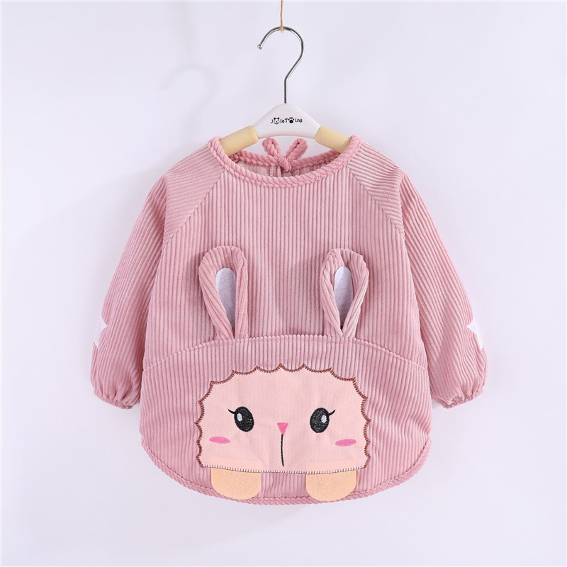 Baby smock children's clothing anti-crystal fleece boys and girls autumn and winter long sleeve baby <font><b>bib</b></font> <font><b>skirt</b></font> image