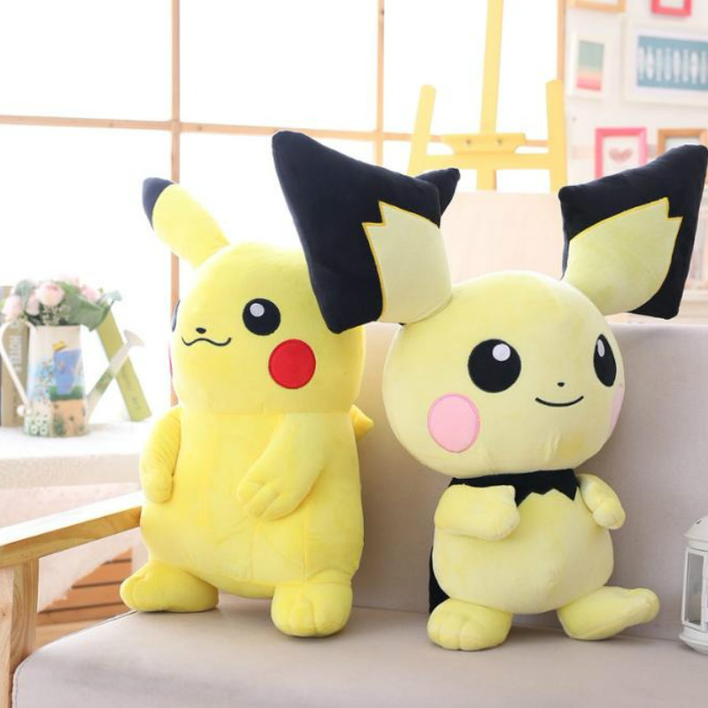 Takara Tomy Pokemon Pichu Plush Stuffed Pikachu Juvenile Version Evolution Toy Hobby Doll Christmas Gifts for Kids