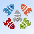 Kovict 5/10 шт ракета силиконовый детский Прорезыватель для зубов против грызунов нового дизайна для детей игрушки для режущихся зубов жеватель...