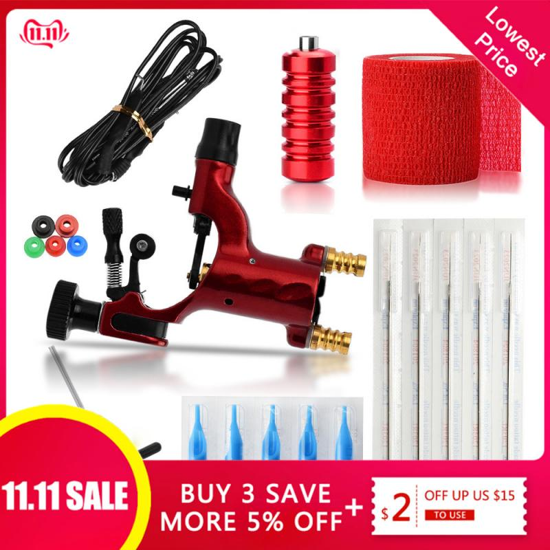 ATOMUS Dragonfly Rotary Tattoo Machine Shader & Liner 7 Colors Assorted Tatoo Motor Gun Kits Supply For Artists Permanent