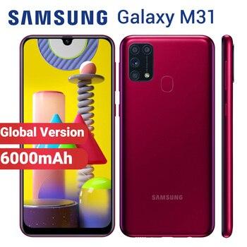 Перейти на Алиэкспресс и купить Смартфон Samsung Galaxy M31, мобильный телефон, 128 ГБ, 6 ГБ, 6000 мАч, M315F/DSN, 6,4 дюйма, Exynos 9611, 4 камеры, 64 мп, две SIM-карты, Android 10
