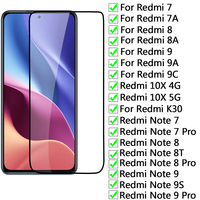 Vetro di protezione 9D per Xiaomi Redmi 9A 9C 7A 8A 10X 4G 10X 5G K30 Pro pellicola salvaschermo Redmi Note 8T 9S 7 8 9 Pro pellicola di vetro