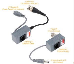 Image 5 - Accesorios para cámaras CCTV, transceptor de Audio y vídeo Balun BNC UTP RJ45, Balun de vídeo con Cable CAT5/5E/6, 10 Uds.