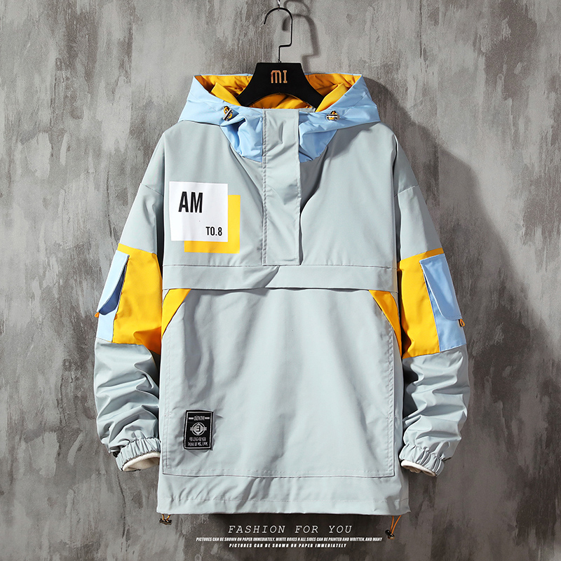 Men's Jacket Fashion Spring Autum Casual Streetwear Hoodie Jacket Men Waterproof Clothes Mens Windbreaker Coat Male Outwear