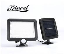 Binval 100COB 6/56 LEDs مستشعر شمسي الحركة حديقة مصباح حديقة مصابيح خارجية مقاومة للماء إضاءة ديكورية الجدار مصباح للطاقة الشمسية أبيض