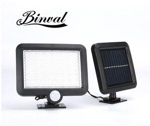 Image 1 - Binval 100cob 6/56 leds 태양 센서 모션 정원 잔디 램프 방수 야외 램프 장식 조명 벽 태양 램프 화이트