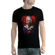 Zombie Clown Jester Mens T-shirt XS-5XL