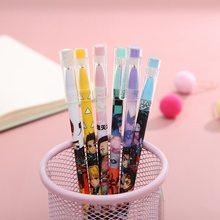 12PCS/Box Anime Demon Slayer Kimetsu No Yaiba Black Ink Neutral Erasable Pen Kawaii Gel Pen Kids Stationery Gift
