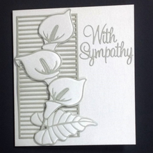 Flower Branch Lily Metal Cutting Dies for Craft Scrapbooking Album Embossing New 2019 Arrival Leaf DIY