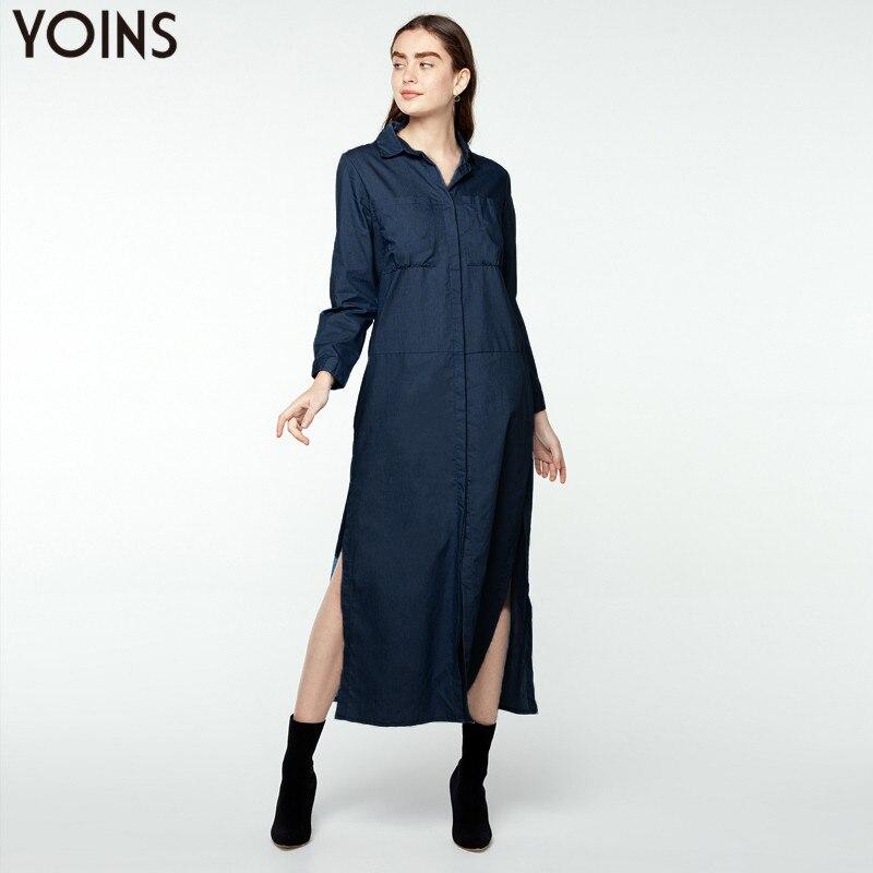 S-5XL Zanzea Women Long Sleeve Denim Jean Lapel Shirt Dress Short Mini Dress Top