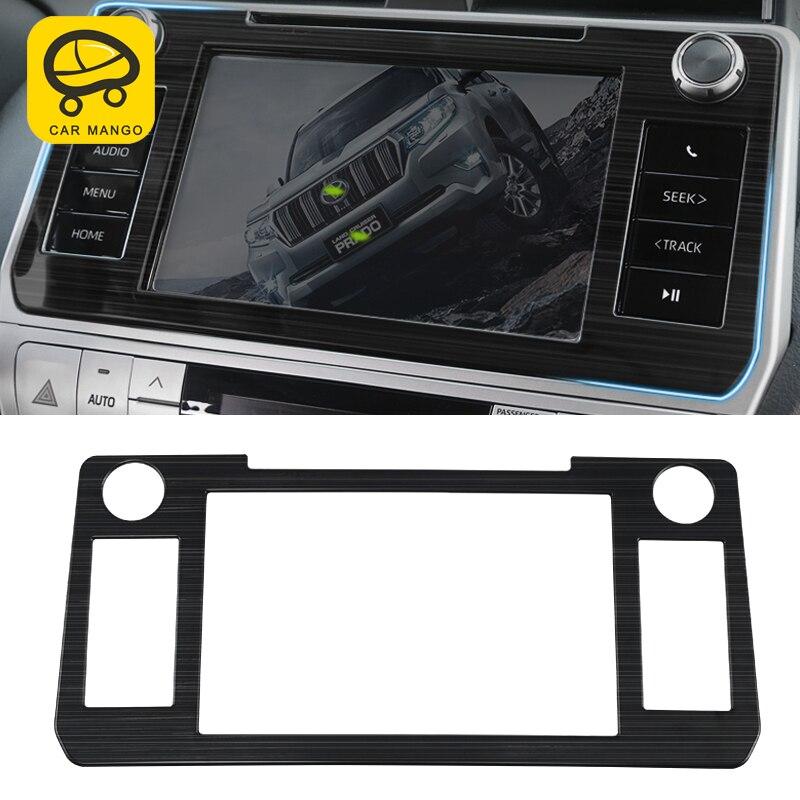 CarManGo for Toyota Land Cruiser Prado 150 2018 2019 Car Navigation Screen Panel Cover Trim Frame Sticker Chrome Accessories Automotive Interior Stickers     - title=